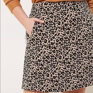 NWT ANN TAYLOR LOFT leopard print shift skirt 6p